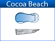 COCOA BEACH fiberglass pool