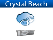 CRYSTAL BEACH fiberglass pool