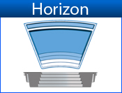 HORIZON fiberglass pool