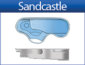 SANDCASTLE fiberglass pool