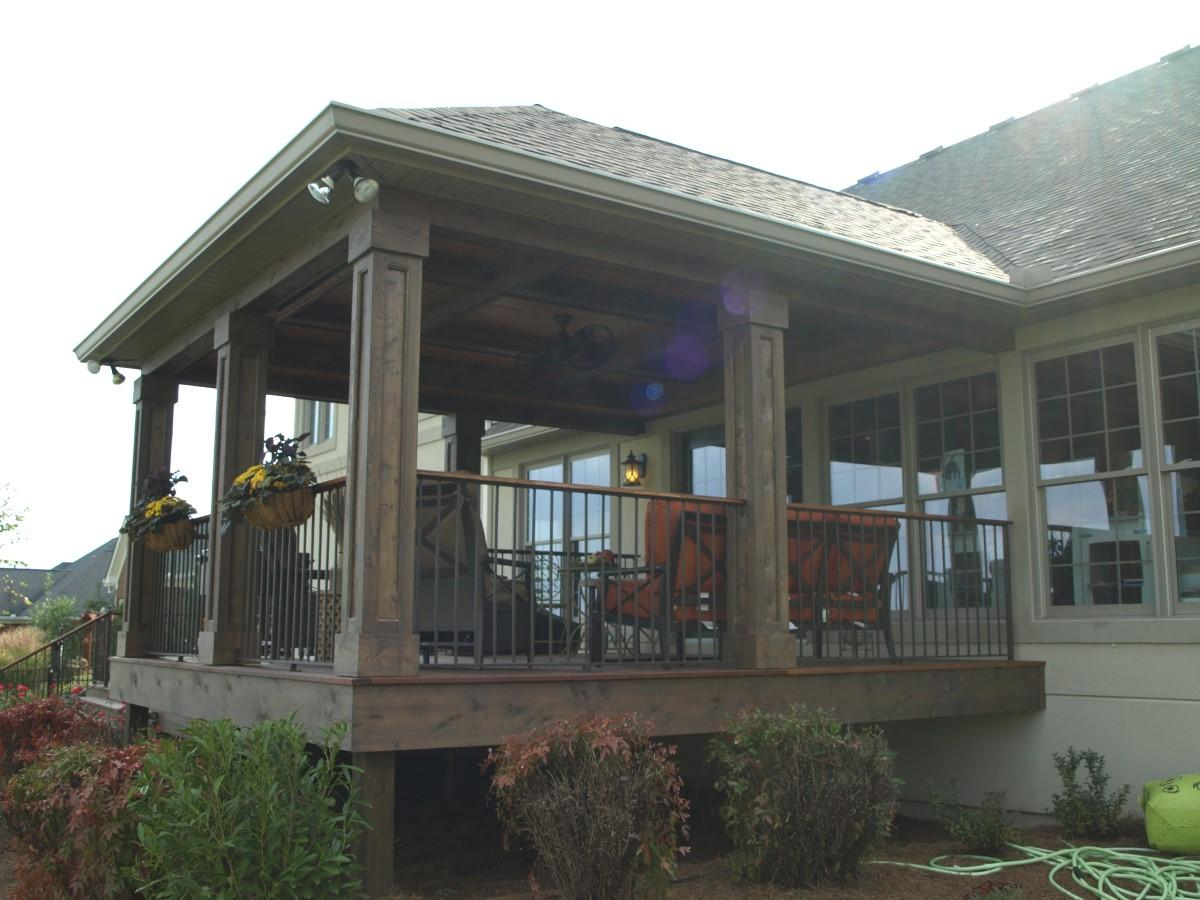 Wonderful We Can Give You That Covered Porch Youu0027ve Always Wanted, Or Build A New  Back Porch With Room For Entertaining. From Enclosed Sunrooms To Poolside  Pavilions ...
